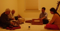 A memorable music session with both my gurus- Pt. Rajan Mishra and Pt. S. S..... Pandey